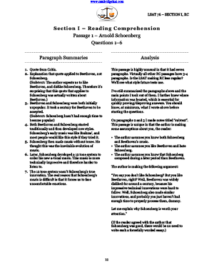 PrepTest 76 Reading Comprehension (Section 1) Explanations